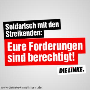 ver.di Streik 2018: Forderungen berechtigt!