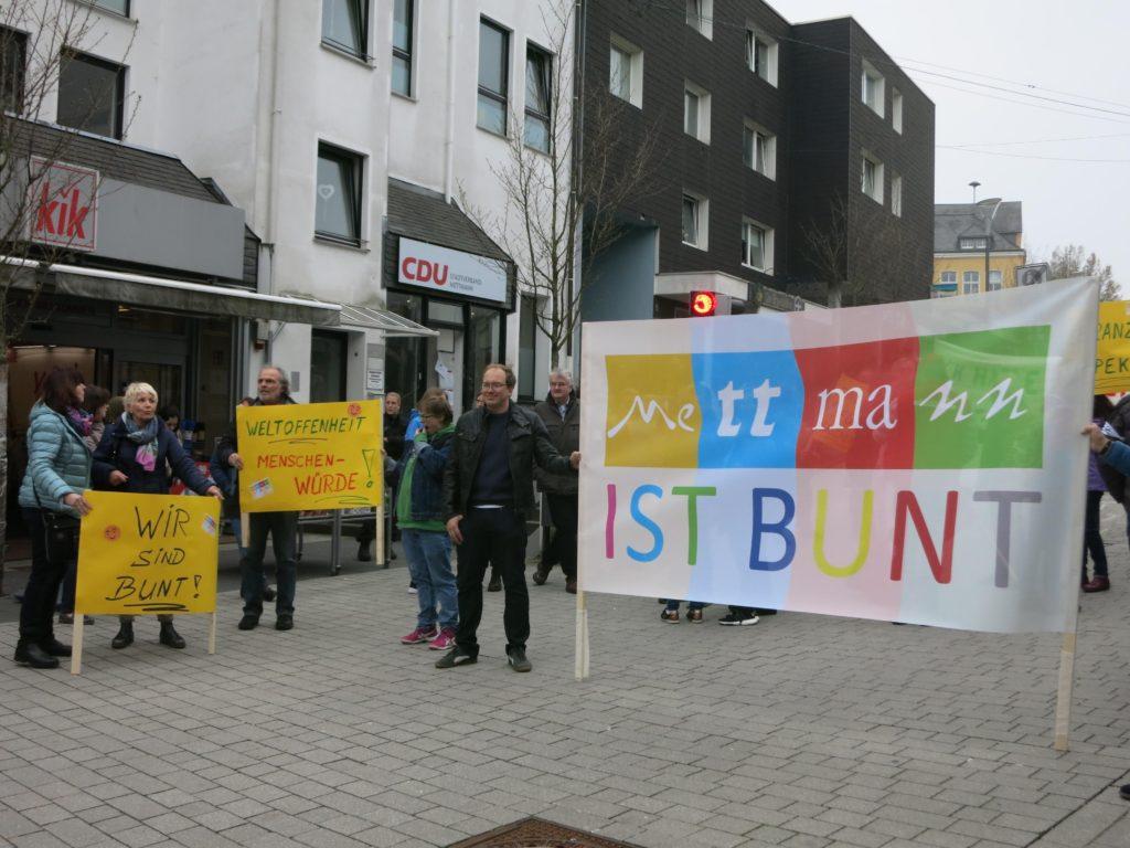 Mettmann ist bunt - Auftakt zur Demonstration
