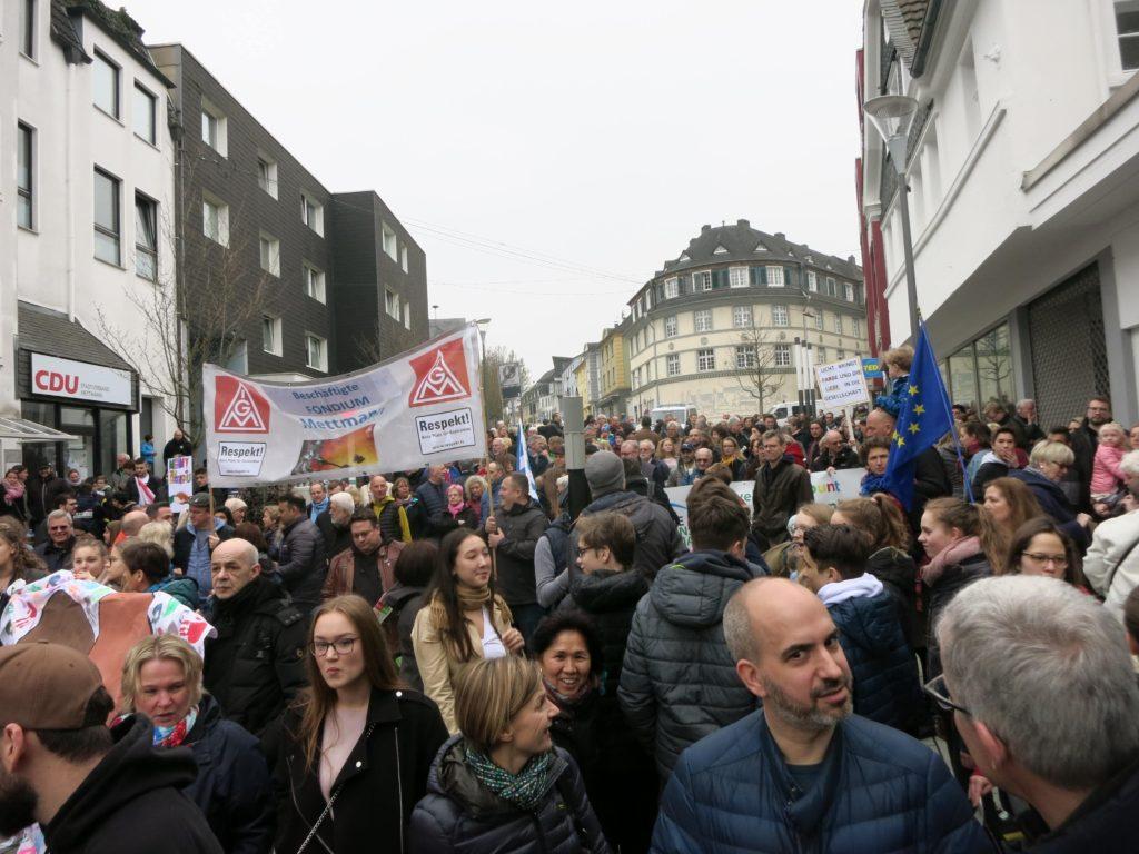"""Demo """"Mettmann ist bunt"""" 2019"""
