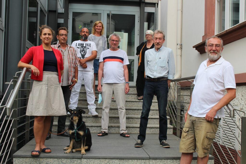 Das Foto zeigt einige Kandidat*innen der Linken Erkrath für die Kommunalwahl