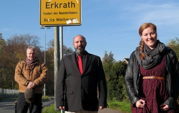 Linker Ortsvorstand Lutz Gallasch, Daniel Kosman, Svenja Burbulla
