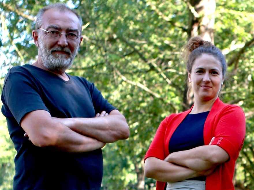 Ratsabgeordnete von DIE LINKE: Markus Lenk und Daniela Lajios