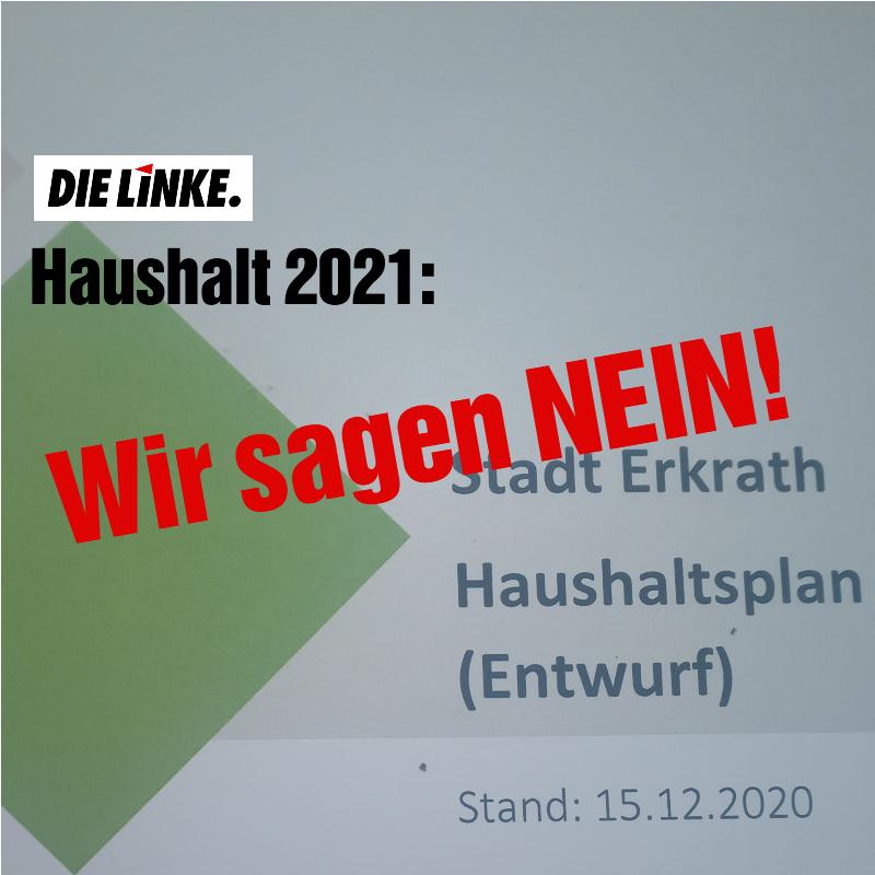 DIE LINKE Erkrath sagt Nein zum Haushalt 2021